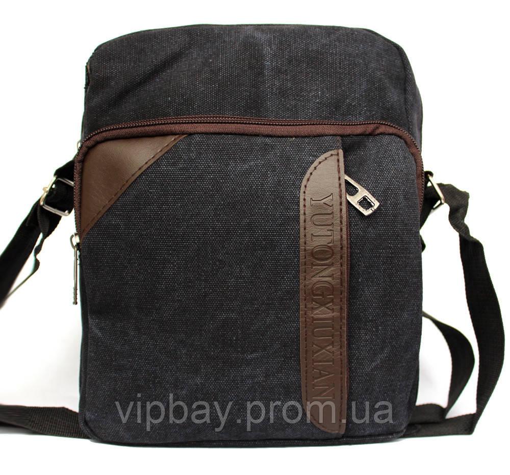 Чоловіча якісна сумка тканинна через плече (М-09ч) af467b1d9663b