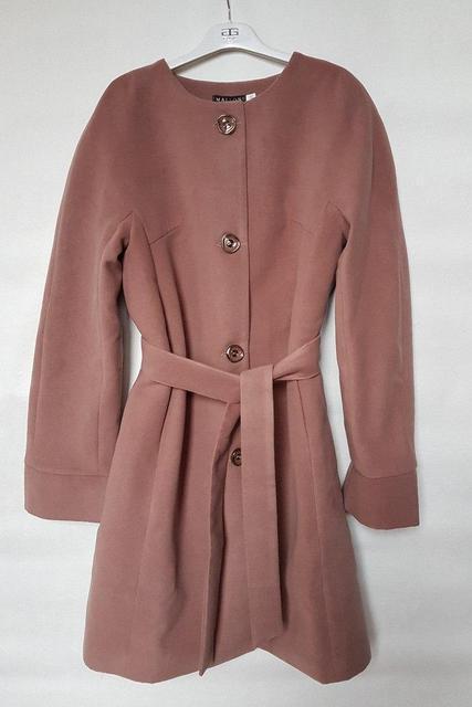 Пальто женское кашемировое на пуговицах (К19777)