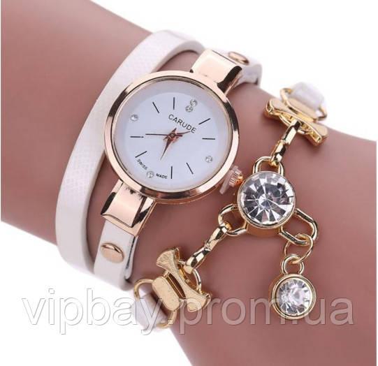 Часы-браслет женские белого цвета (ч-14)