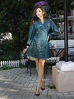 Нарядное женское платье с вышивкой и пайетками (К19834), фото 1