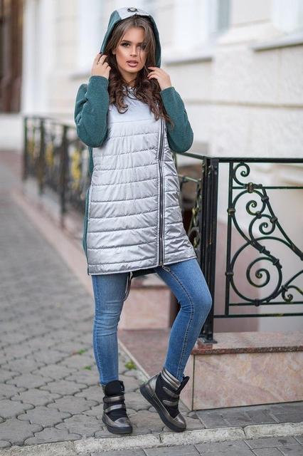 Стильная женская куртка с капюшоном (К19838)