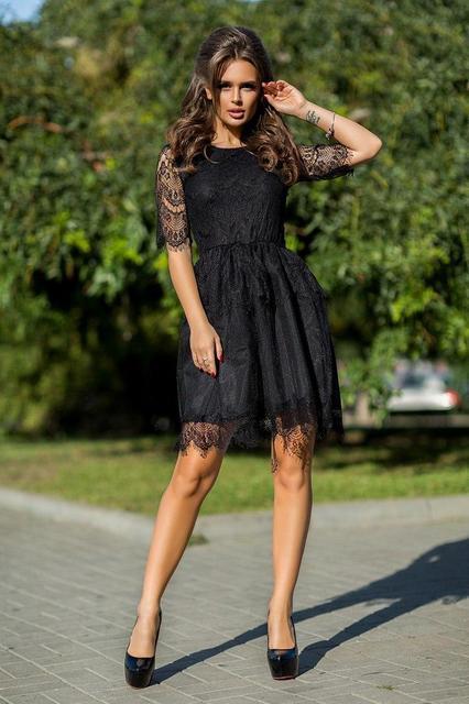 Нарядное женское короткое платье (К19840)
