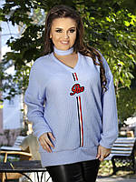 Вязаный женский свитер с чокером (К19856), фото 1