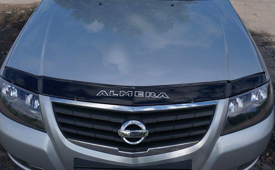Nissan Almera Classic Дефлектор капота мухобойка на для NISSAN Ниссан