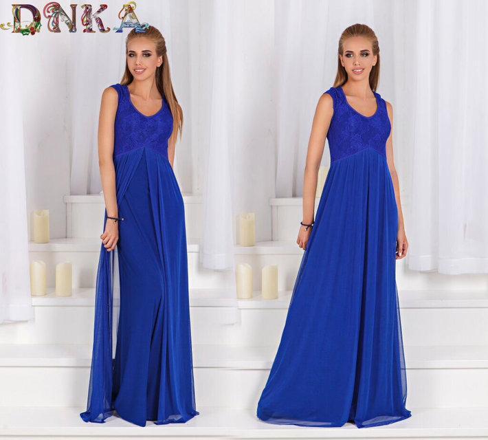 4fa986d556b Купить Вечернее длинное платье с коротким рукавом (К19950)  ...  в ...
