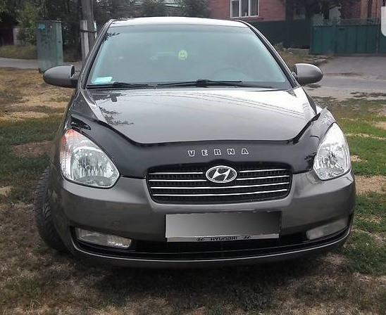 Hyundai Accent Дефлектор капота мухобойка на для HYUNDAI ХУНДАЙ Хендай Accent /Verna 2006-2009