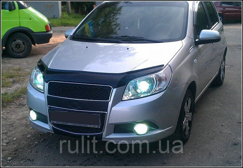 Chevrolet Aveo Дефлектор капота мухобойка для CHEVROLET Шевроле Aveo 2008-2012 /хетчбек