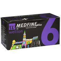 Голки для інсулінових шприц-ручок Wellion MEDFINE plus 0.25 mm (31G) x 6 мм, 100 шт
