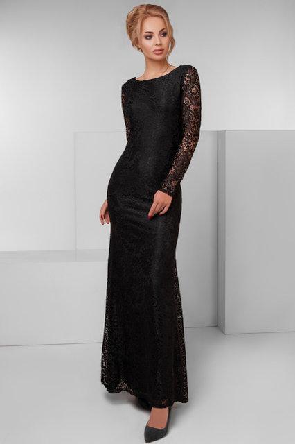 Вчернее платье из кружева с открытой спиной (К19992)