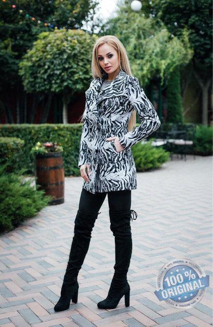 Яркое женское кашемировое пальто (К20011)