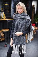 Большой ангоровый зимний шарф (К20041)