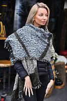 Зимний большой шарф с бахрамой (К20040)