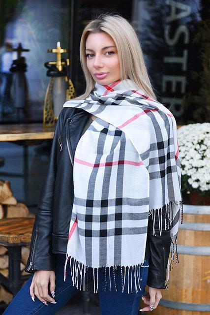 Легкий шарф Барбери (К20042)