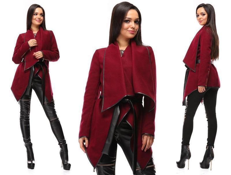 Пальто-трансформер с молниями на рукавах (К20135)