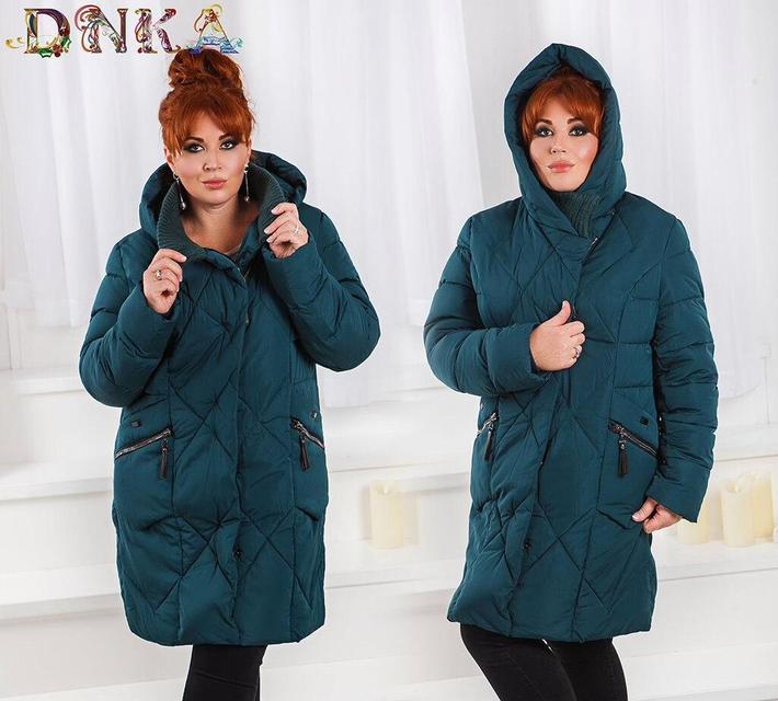 Зимняя женская стеганая куртка батал (К20138)
