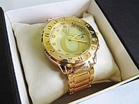 Часы 0015 наручные женские часы золото+желтый циферблат