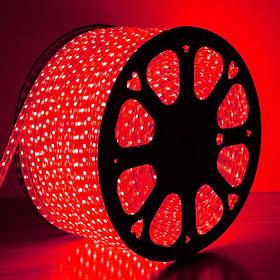 Светодиодная лента красная SMD 2835/120 220 В IP68 Код.59318
