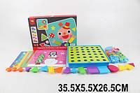 Мозаика для самых маленьких 3466 (1683020)  крупные вкладыши, геометрические фигуры,в коробке 35