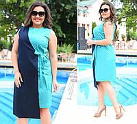 Платье на запах в разных цветах 46-60 р