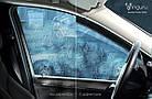 Дефлектори вікон вітровики на VOLKSWAGEN Фольксваген VW Polo IV 2001-2009 хб, фото 6