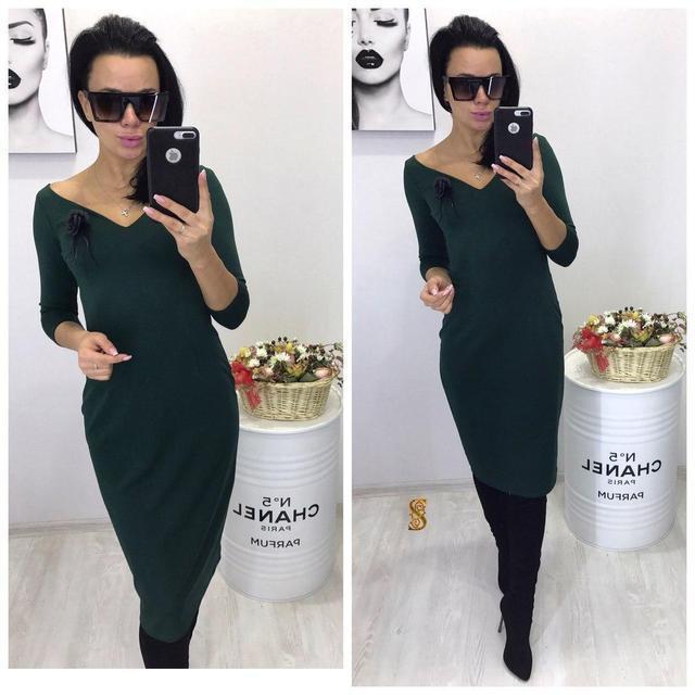 a37bde29f7c Купить Осеннее облегающее платье-миди (К20293)  ...  в Украине