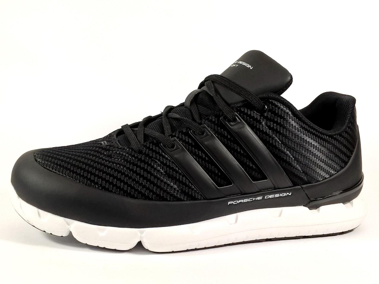 ab717392c Мужские кроссовки Adidas Porsche чёрные на белой подошве - интернет-магазин