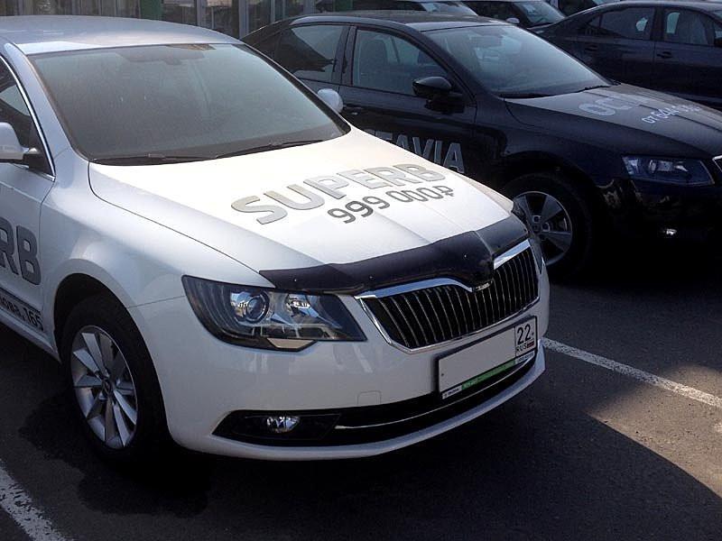 Skoda Superb Дефлектор капота мухобойка на для SKODA Шкода Superb 2014-2015