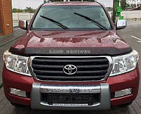 TOYOTA Land Cruiser Дефлектор капота мухобойка на для TOYOTA Тойота Land Cruiser 200 2007-2015 темный (Logo)