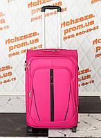 Средний удобный розового цвета чемодан Wings