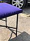 Летний чехол на кушетку косметологическую (микро масло) фиолетовый, фото 2