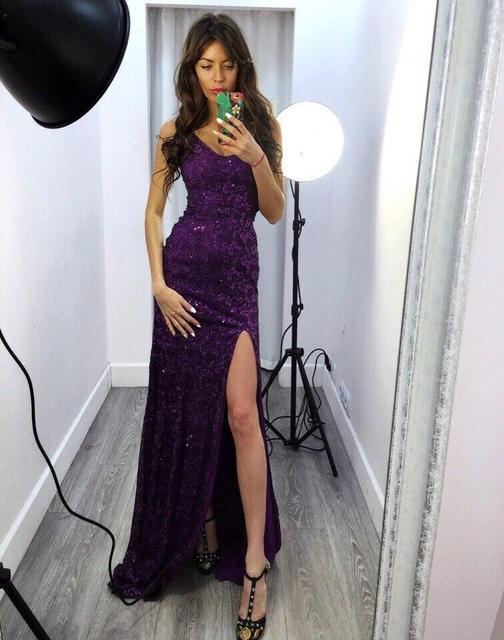 3a247eaeaaa Купить Вечернее платье в пол с разрезом (К20576)  ...  в Украине