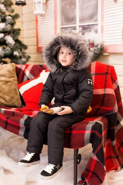 Зимний детский теплый костюм (К20666)