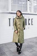 Длинная женская синтепоновая куртка (К20675), фото 1