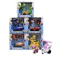 Герои  6 героев с игрушечная машинка на выбор, в коробке 18*17*10 см.