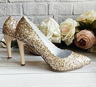 Женские остроносые туфли на шпильке. Обувь VISTANI., фото 1