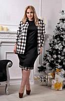 Комплект: платье с кардиганом батал (К20774)