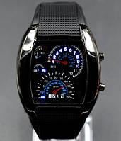 Бинарные часы Led Watch Спидометр Черные 039