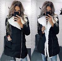 Зимняя женская куртка с мехом (К20876), фото 1