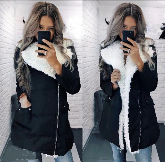 Зимняя женская куртка с мехом (К20876)
