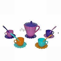 Набір посуду іграшковий на 4 персони Ромашка - Люкс з чайником, арт. 39085, Тигрес