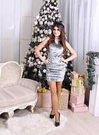 Бархатное мини-платье с чокером (К20922), фото 1
