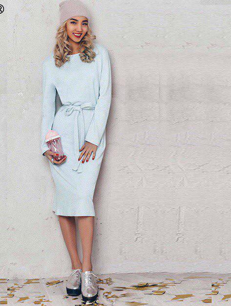 Платье-миди женское с поясом (К20990)