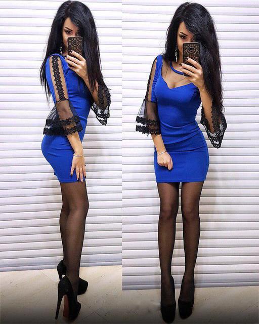 Облегающее короткое женское платье (К21017)