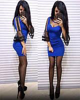 Облегающее короткое женское платье (К21017), фото 1