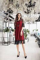 Платье женское декорировано сеточкой (К21049), фото 1