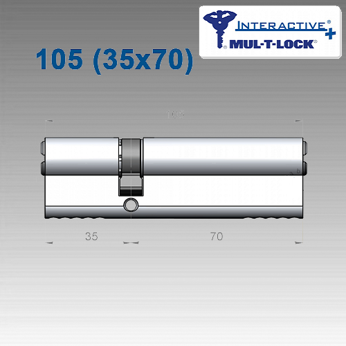 Цилиндр Mul-T-Lock Interactivе+ 105 мм (35х70)