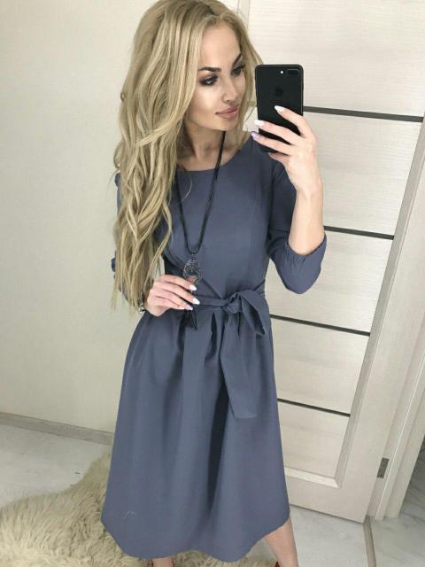 cf6c1f5eb45 Купить Повседневное платье-миди (К21113)  ...  в Украине