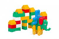 Дитячий набір: конструктор, заєць, курча, слон
