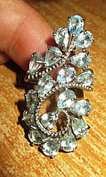 """Серебряное кольцо с натуральным топазом """"Индия"""", размер 16,8, фото 1"""
