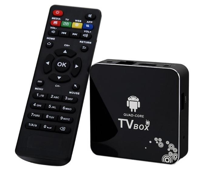 Медиаплеер четырехъядерный Android Smart TV box A30 (HDMI + AV)